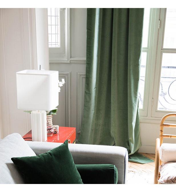 rideau palazzo vert amande the