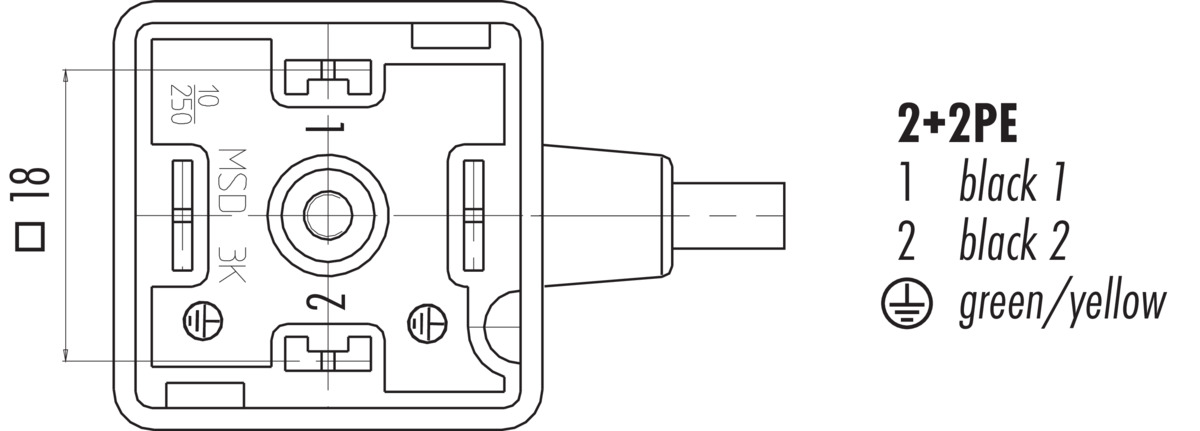 Connecting Cable Female Power Connector Din En 803