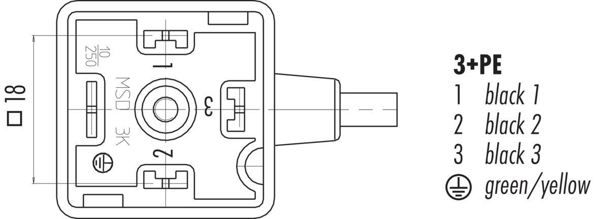 Female Solenoid Valve Connector Din En 803 Low