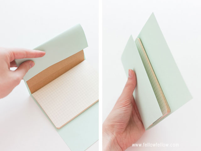 fold the excess card over the cover พับริมประดาษ