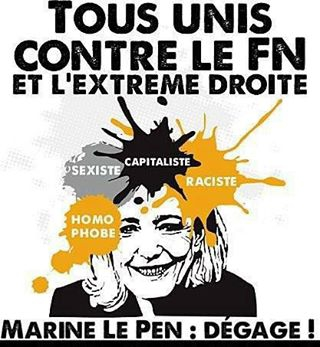 Marine Le Pen cartoon