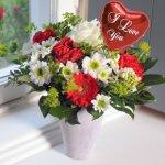 Blumen Geschenk: Only for you mit Luftballon ´´I love you´´