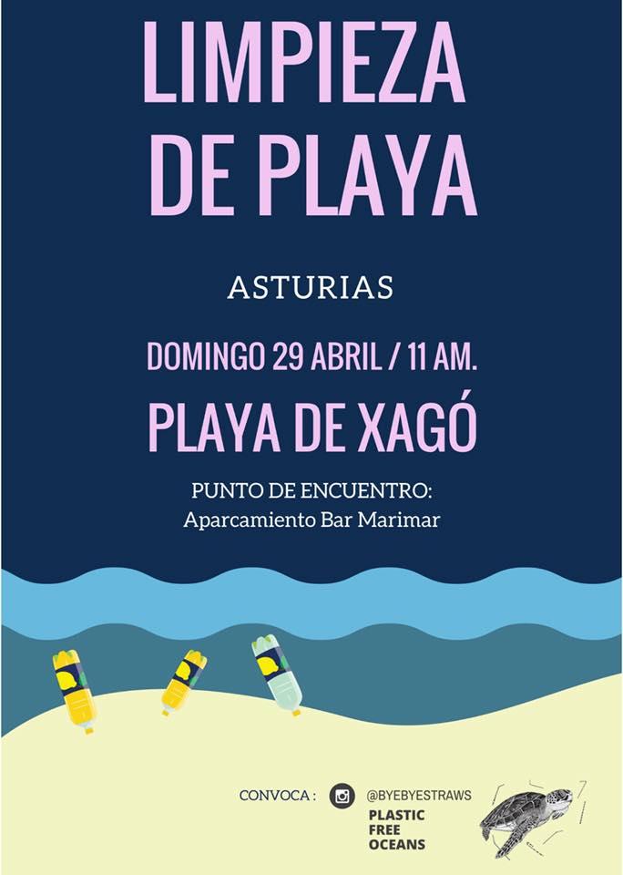 limpieza playa asturias
