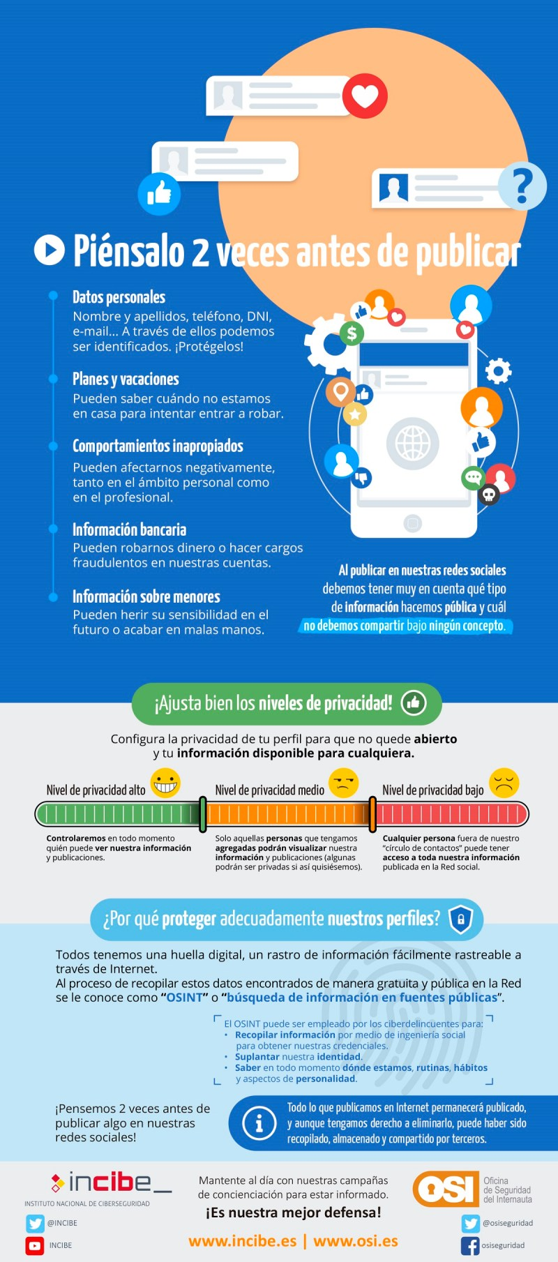 redes sociales osi