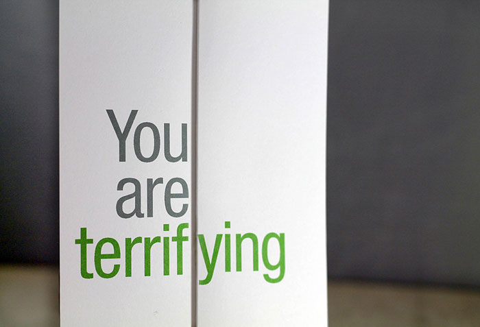 Seemingly Offensive Fold Out Greeting Cards By