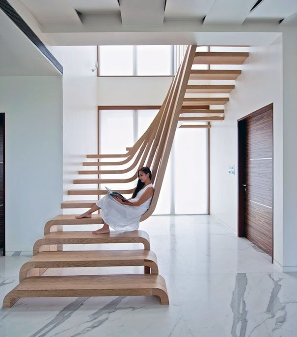 22 Beautiful Stairs That Will Make Climbing To The Second Floor | Staircase Designs For Indian Homes | Granite | New | Beautiful | Cheap | Steel