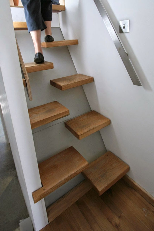 22 Beautiful Stairs That Will Make Climbing To The Second Floor   Stair Design For Small House Outside   Handrail   Front Elevation   Spiral Staircases   Concrete   Stair Railing