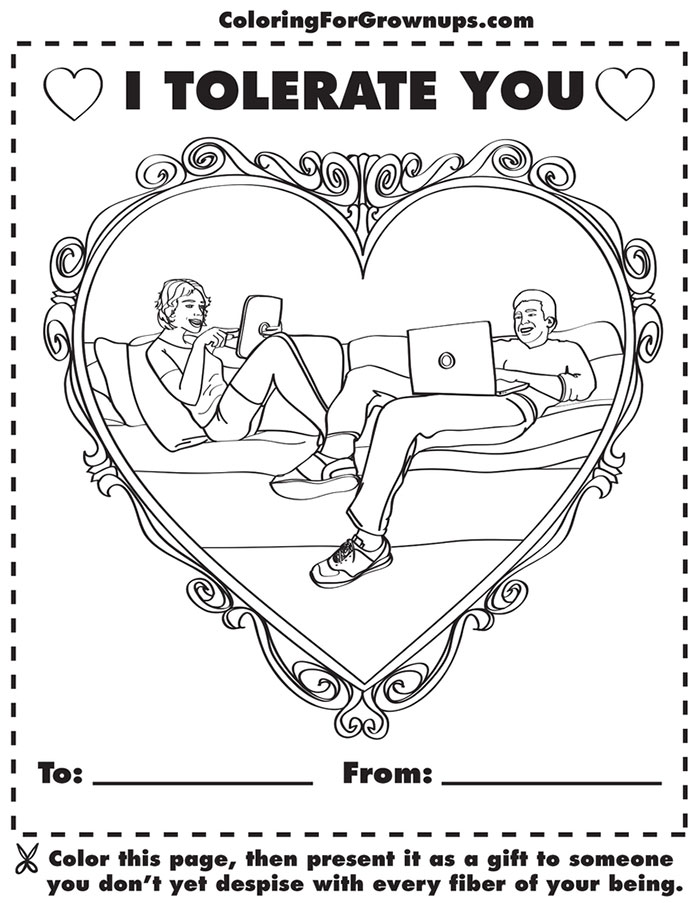 Coloring Book For Grown-Ups Mocks Adult Life | Bored Panda | free online coloring pages for adults funny
