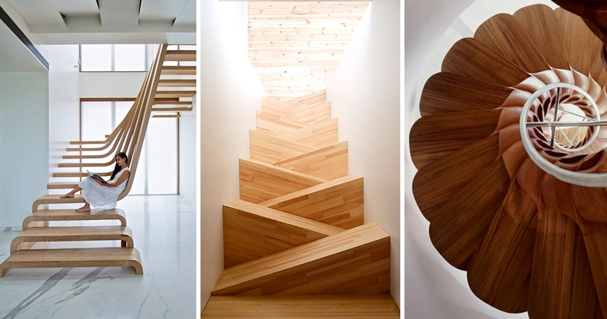 22 Beautiful Stairs That Will Make Climbing To The Second Floor | Ready Made Wooden Steps | Stair Treads | Staircase | Deck Stairs | Composite | Stair Stringer