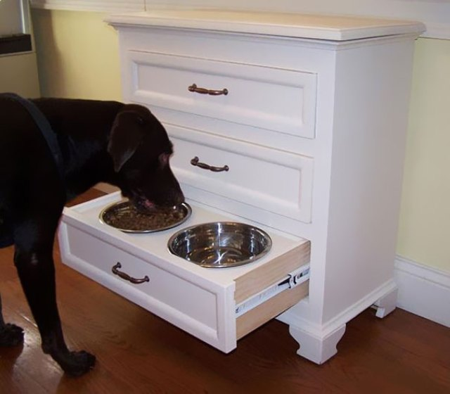 Hideable Dog Bowl Drawer