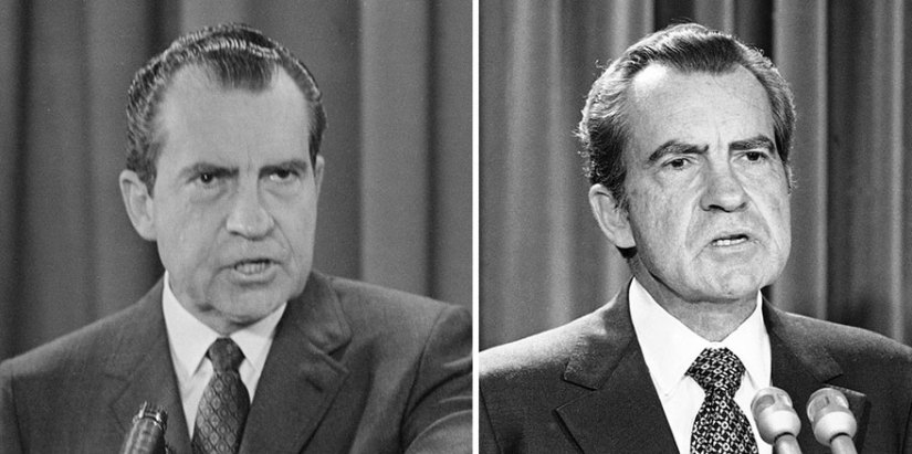 Image result for richard nixon before and after president contrast