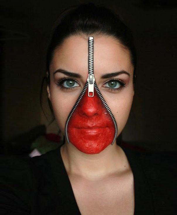 Zipped Face Make Up