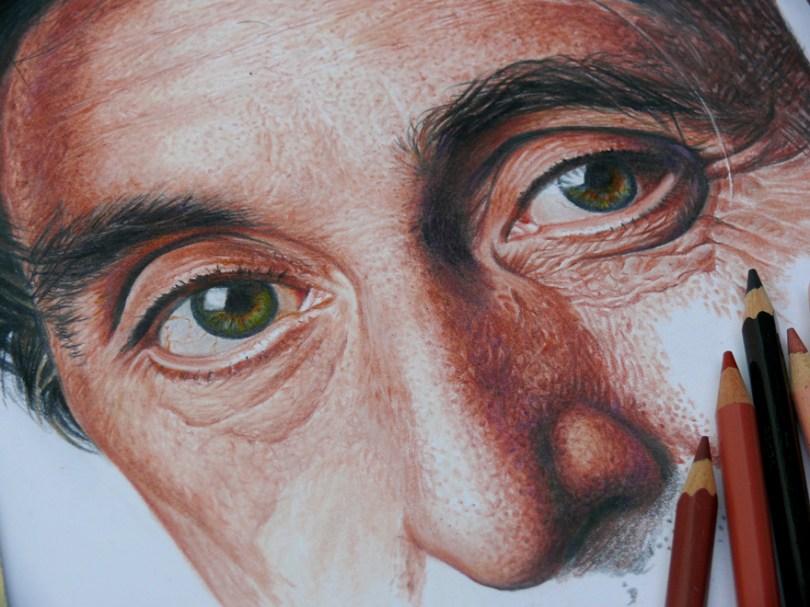 Pacino detail Nestor Canavarro2  880 - Os desenhos hiper realistas de Nestor Canavarro