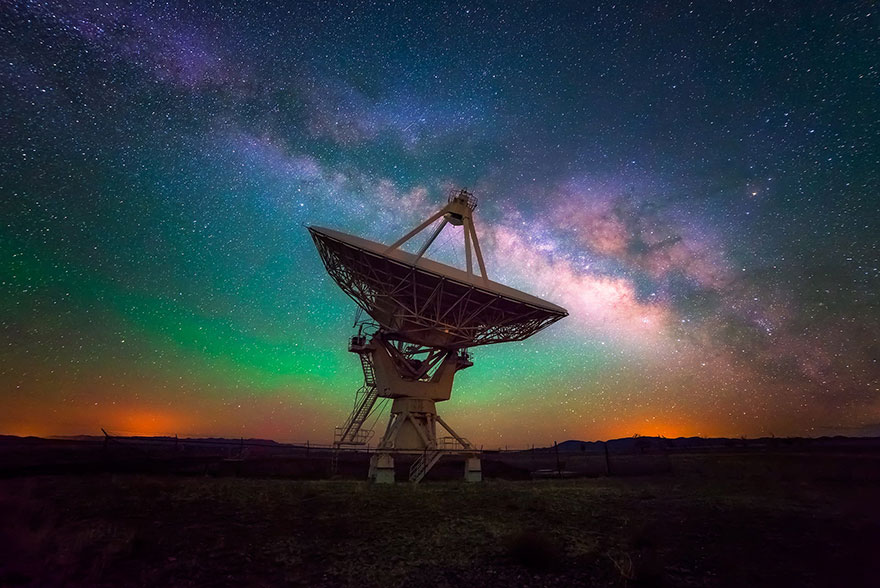 VLA And Milky Way (New Mexico, USA)