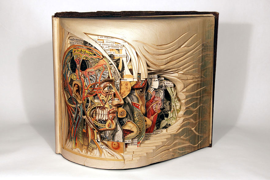 Book Sculpture Made By Using Surgical Tools