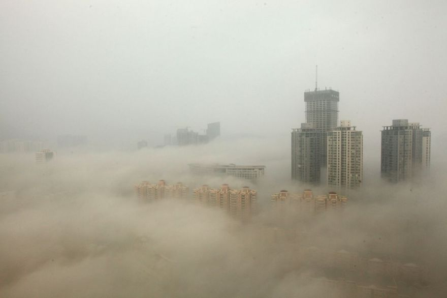 Buildings In Beijing Surrounded By Smog