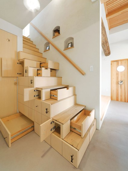 22  Stunning Interior Design Ideas That Will Take Your House To     Space Saving Stairs