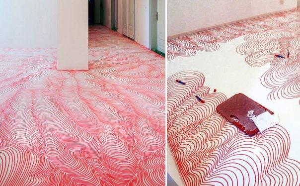 Optical Illusion Marker Floor