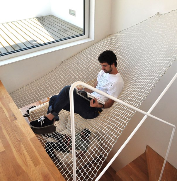 Hammock Over Stairs