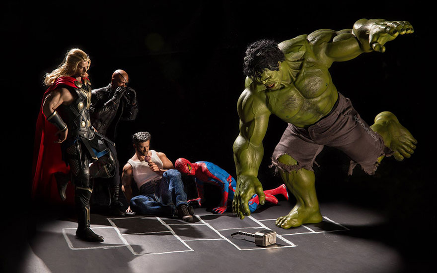 The Secret Life Of Superhero Toys By Edy Hardjo Bored Panda