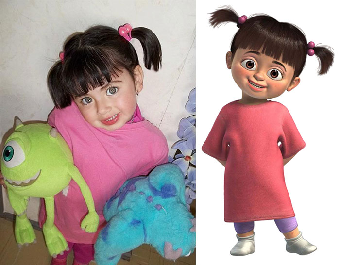 Little Girl Looks Like Boo From Monster.inc