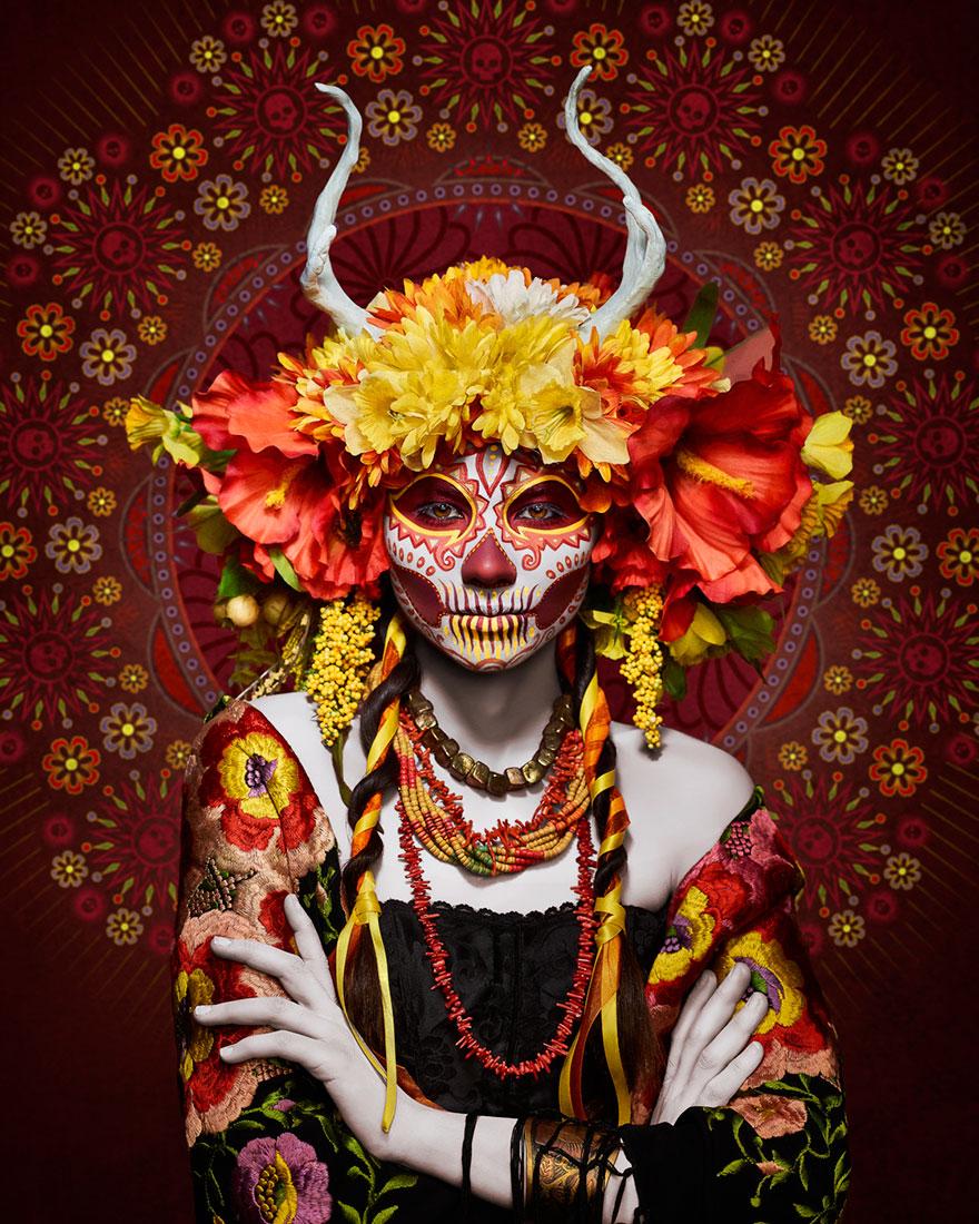Dia-de-los Muertos-ημέρα-της-νεκρός-μακιγιάζ-φωτογραφία-las-muertas-Tim-tadder-4