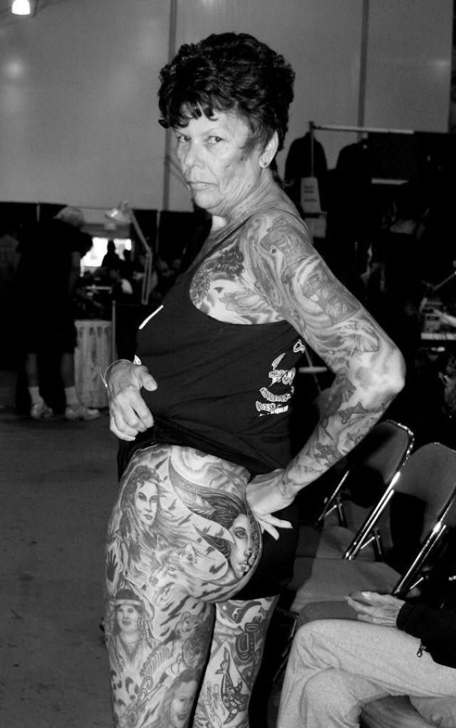 Tattooed Elderly People