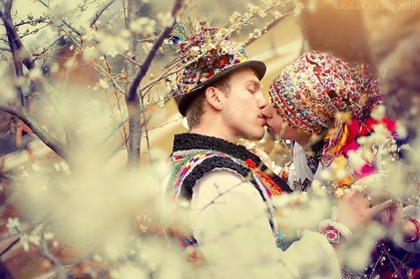 En Hutsuls boda Cárpatos de Ucrania