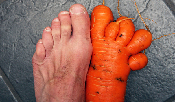 Foot-shaped Carrot