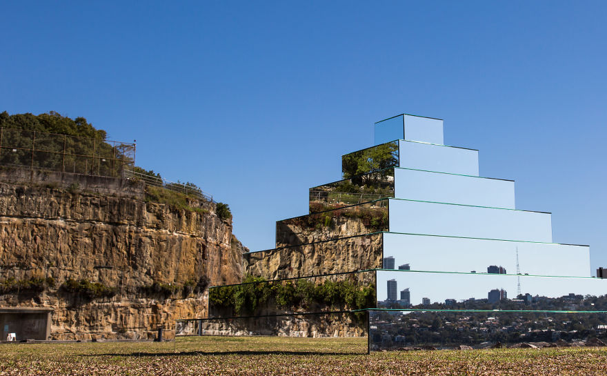 I Created A Mirrored Ziggurat To Connect The Earth And Sky