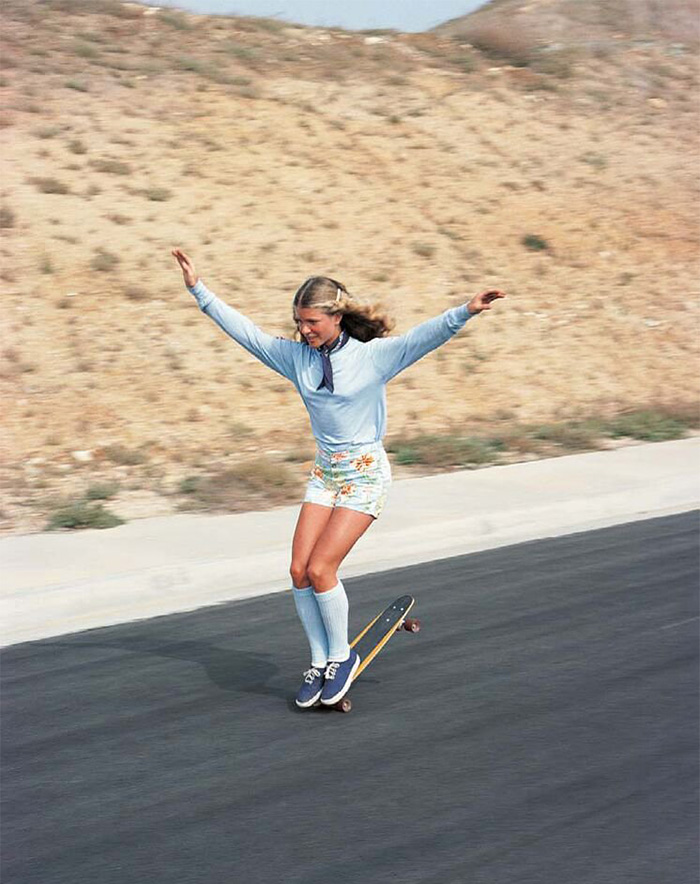 Ellen O'neal, One Of The Greatests Female Freestyle Skateboarders In The World (1970)