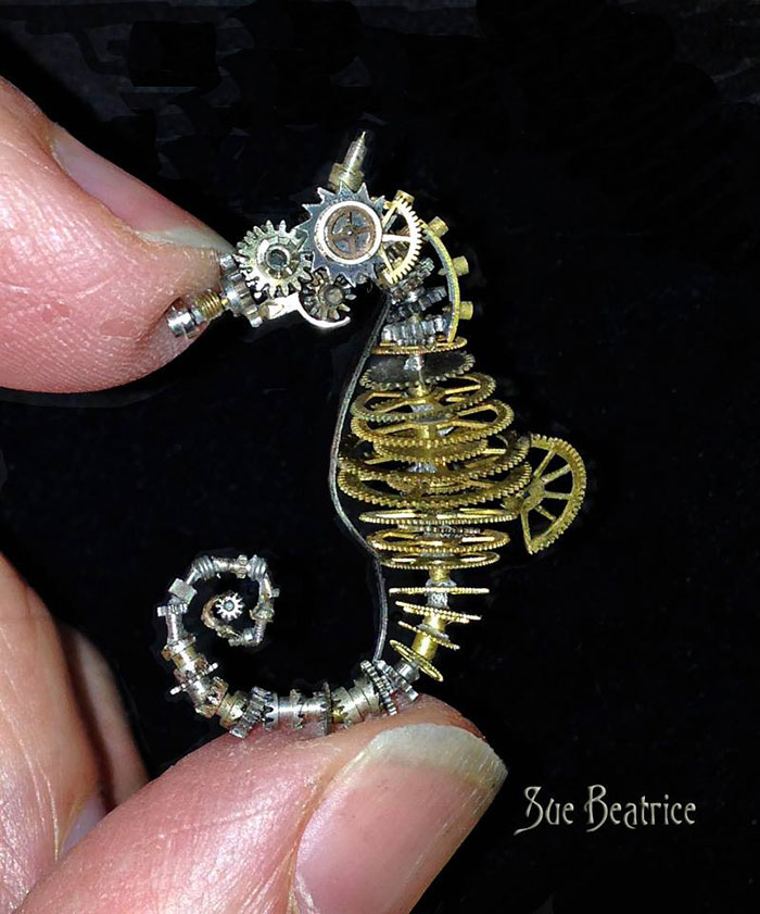 recycled-watch-parts-sculptures-vintage-antique-susan-beatrice-7
