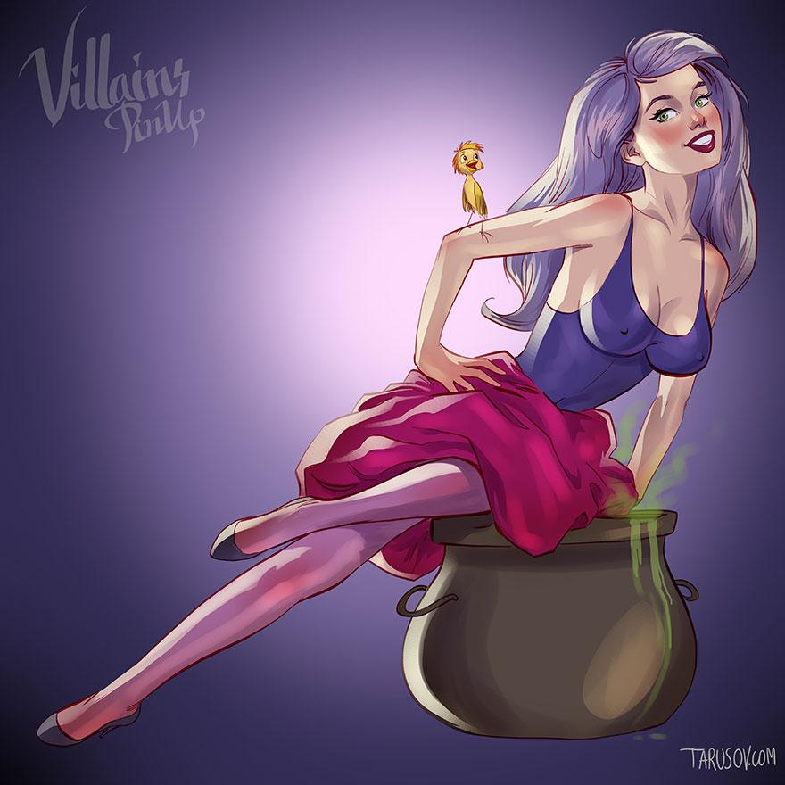 disney-villains-pin-up-girls-illustrations-andrew-tarusov-1