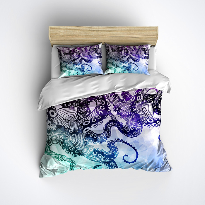 Octopus Duvet Cover And Pillow Cases