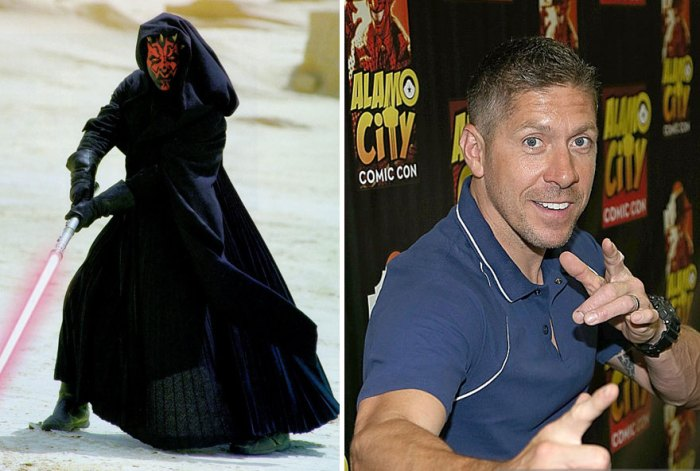 Ray Park As Darth Maul, 1999 And 2015