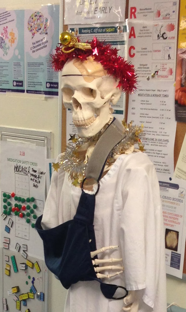 Christmasy Skeleton Named Mal Nutrition