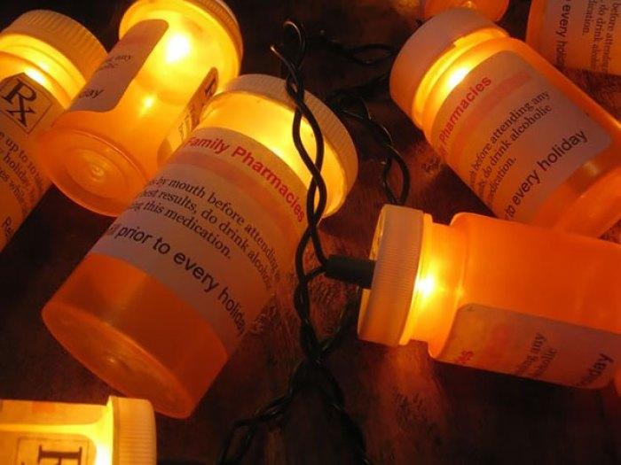 Christmas Light Prescription Bottles