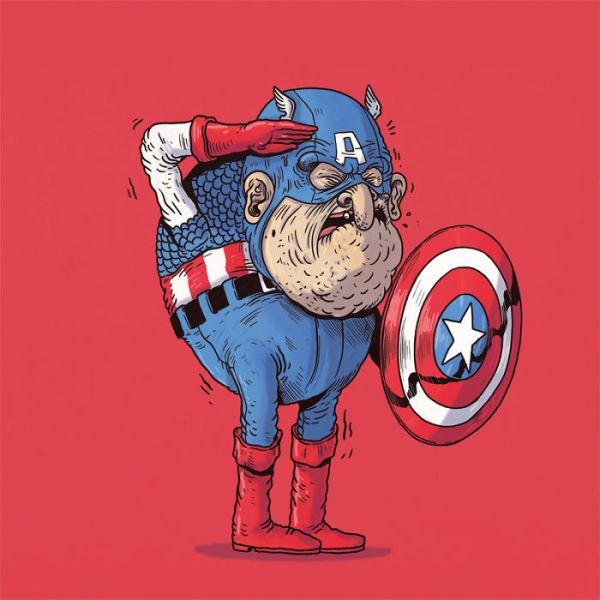 How Would Superheroes Look If They Grew Old? | Bored Panda
