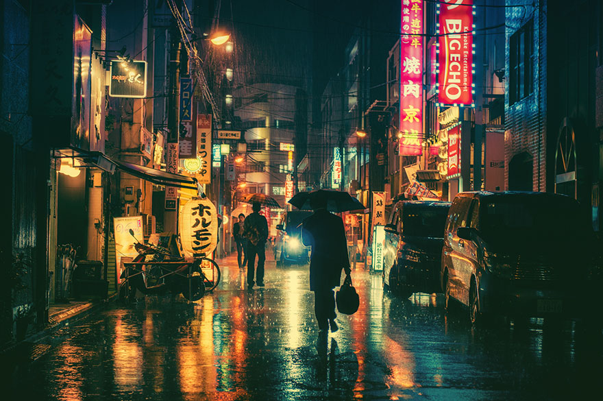 Image result for tokyo at night
