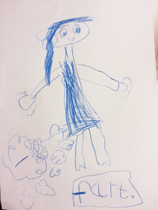 My 5-Year-Old Cousin's First Drawing Of Her Mum