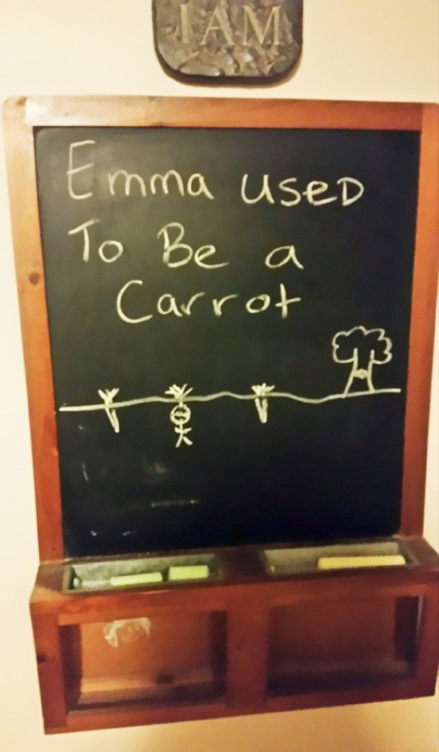 My Brother Teases Our Little Sister With Chalkboard Drawings Every Day. This Was Today's