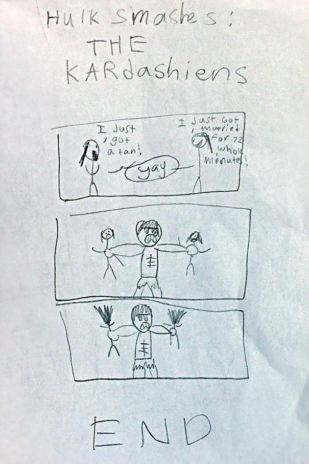 """Hulk Smashes The Kardashians"" By My 10-Year-Old Son"