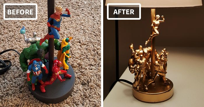 How To Make An Epic DIY Lamp From Cheap Action Figures