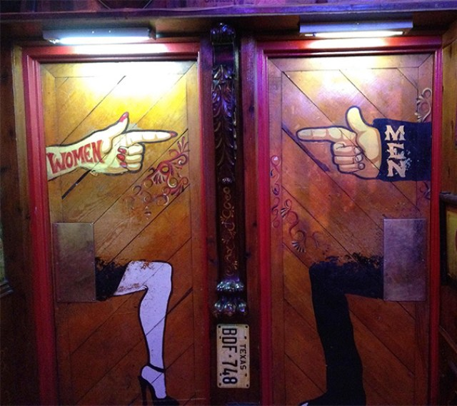 By Far The Most Confusing Bathroom Signs I Have Ever Seen. The Men's Is Actually On The Left