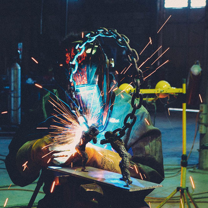 Welder Spends Hundreds Of Hours Turning Metal Into