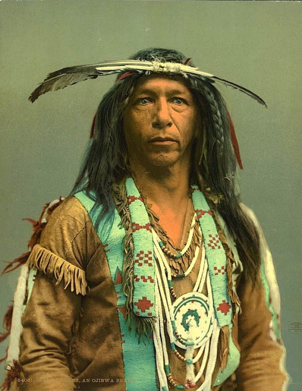 Arrowmaker, Un hombre de Ojibwe.  1903