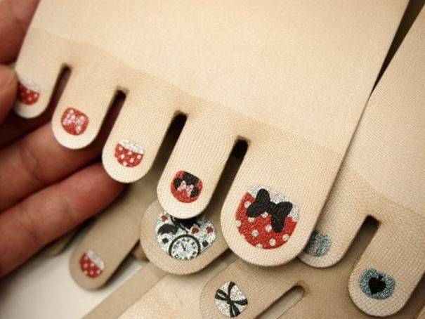 Toe Nail Art Polish Stockings An 5