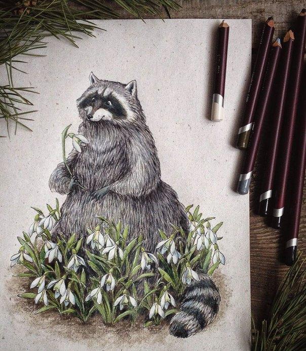 cuento de hadas-ilustraciones a todo color lápiz-lia-selina-11