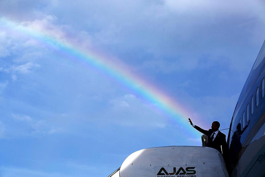 Il presidente Obama esprime Addio colorato mentre lascia la Giamaica