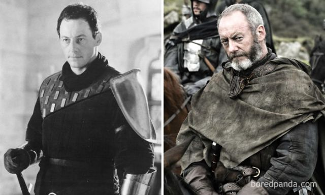 Liam Cunningham As Sir Agravaine (In 1995's First Knight) And As Ser Davos (In Got)